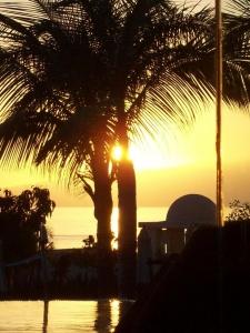 Sonnenuntergang Hotel Vincci Seleccion La Plantacion del Sur auf Teneriffa