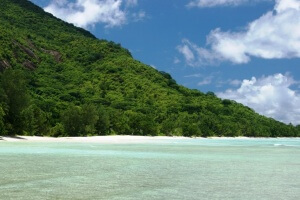 Strand Silhouette Seychellen